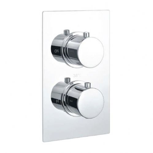 Echo Round Chrome Twin Thermostatic Concealed Shower & Diverter (Tmv2)